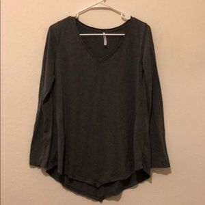 Gray Longsleeve V-Neck